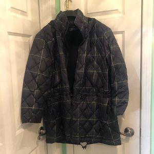 Ralph Lauren Plaid puffer coat xl